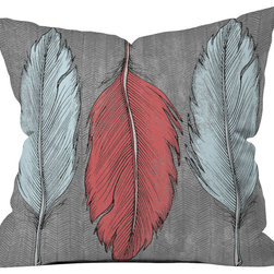 DENY Designs - Wesley Bird Feathered Throw Pillow - Wanna transform a serious room into a fun, inviting space? Looking to complete a room full of solids with a unique print? Need to add a pop of color to your dull, lackluster space? Accomplish all of the above with one simple, yet powerful home accessory we like to call the DENY throw pillow collection! Custom printed in the USA for every order.