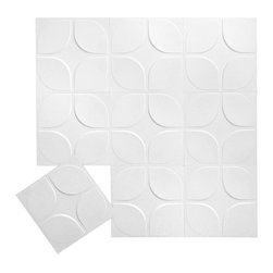 Inhabit - Inhabit Lotus Wall Flats Set of 10 - Forgo drywall and folding screens and install these lightweight dimensional wall tiles, creating sculptural walls anywhere you want them in your home. This unique wall option is both chic and functional, and you'll love the curving, interlocking three dimensional geometric pattern. Each panel is molded from bagasse, a renewable resource, making this an easy, ecofriendly choice for your home.