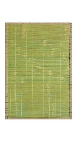 Anji Mountain - Key West Bamboo Rug - 4' x 6' - Bamboo rugs have been a traditional floor covering in the Far East for centuries. They add a touch of organic, practical elegance to any space. Our bamboo rugs are made of the finest quality, sustainably harvested bamboo in the world for supreme durability. Kiln-dried bamboo is machine-planed and sanded for a smooth finish. This classic collection offers a variety of intriguing designs and brilliant colors to choose from.