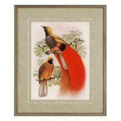 Paragon - Scarlet Bird of Paradise - Framed Art - Each product is custom made upon order so there might be small variations from the picture displayed. No two pieces are exactly alike.