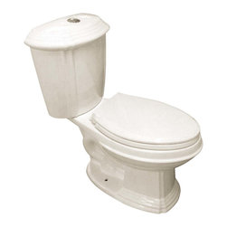 "Renovators Supply - Toilets Bone Sheffield Dual Flush Toilet Elongated - Dual Flush Toilets. Sheffield is part of our eco-friendly, water saving dual flush toilet line. The EPA estimates homeowners save up to 25,000 gallons of water a year by using Dual Flush Technology. How? It��_��__��_s easy from one button choose between a  0.8 LOW flush or 1.6 HIGH flush. Conserve water and save money with every flush. Our G-Force high efficiency flush system let��_��__��_s you flush only ONCE! Eliminate the need to double flush. Ergonomic easy height and elongated bowl makes using it safer and easier. Includes slow closing ""No-Slam"" plastic toilet seat and discrete top flush plastic faux chrome button. Measures 31 3/4 in. H x 27 1/2 in. proj."