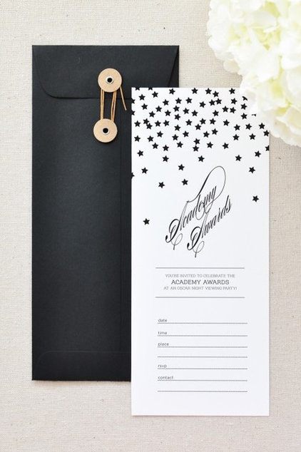 Contemporary  Oscar Invitations