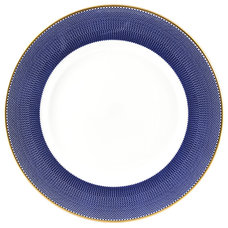 The New English Benday Cobalt Dinner Plate - Style # BEN-C-DIN, Benday Cobalt Di