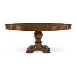 "ART Furniture - Warwick Round Dining Table - 41225-2106 - 54"" round dining table extends to 74"" with 1-20"" leaf."
