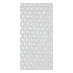 GetAround - Penny Round Mosaic Tile, White - Glossy - Sold per Square Foot
