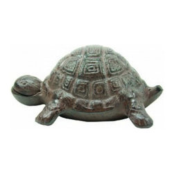 "Handcrafted Model Ships - Rustic Cast Iron Turtle 6"" - Turtle Bedroom Decor - This Rustic Cast Iron Turtle 6"" is the perfect addition for any beach themed home. Handcrafted from cast iron, this turtle is durable, decorative and charming. If you are looking for unique beach coastal decor, use our rustic cast iron turtle to show those who visit your home affinity for decorating a beach house."