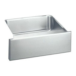 Elkay - Farmouse Gourmet Lustertone Undermount Sink - Choose Sink Package: Sink OnlyManufacturer SKU: ELUHF2520. Material: Stainless SteelFaucet Holes: 0Thickness: 18 GaugeInstallation Type: [Category], Apron Front, UndermountCode Compliance: IAPMOSound Deadening: Sound Guard®Number of Bowls: 1Minimum Cabinet Size: 30 in.Sink Dimensions: 25 in. L x 20 1/2 in. WPrimary Bowl Depth: 7 7/8 in.Bowl Dim.: 21 in. x 15 3/4 in. x 7 7/8 in.Drain Size: 3 1/2 in.
