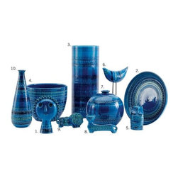 Bitossi - Bitossi Ceramics in Rimini Blu Vase - In production since 1953, this is the authentic Rimini Blu Collection, designed by Aldo Londi. Over the decades, there have been many products inspired by Londi's work, but only the master ceramists at Bitossi know the formula for this stunning blue glaze. As the art director of Bitossi for more than 50 years, Londi built this collection over time, adding new animals, vases and bowls – each one showing a different approach to his intricate hand-embossed patterns. Even today, the master artisans at Bitossi make and paint each piece by hand with layered glazes and firings, creating a deep, rich blue that evokes the feeling of the sea. Aldo Londi was a remarkable artist and ceramist who transformed Bitossi into a company known for its innovation in ceramics design. As with any handcrafted object, small imperfections can sometimes be found, which are consistent with the originality and craft process of the product. Made in Italy.