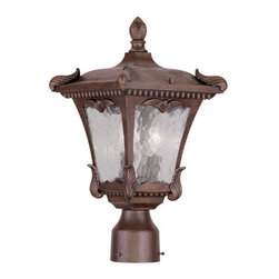 "Livex Lighting - Livex Lighting 7984 Millstone 17.5 Inch Tall Post Light - Livex Lighting 7984 Millstone Two Light Outdoor Post LightA flawless design with a lot of detail to admire, the Millstone two light 17.5"" tall post light is covered in leafy baroque accents that lend it an elegant quality not found in most outdoor lighting.Livex Lighting 7984 Features:"