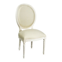 Medallion Side Chair - White/Antique White