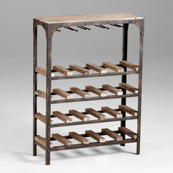 Cyan Design - Cyan Design 04978 Gallatin Wine Rack - Cyan Design 04978 Gallatin Wine Rack