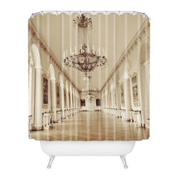 DENY Designs - Happee Monkee Versailles Grandtrianon Shower Curtain - Who says bathrooms can't be fun? To get the most bang for your buck, start with an artistic, inventive shower curtain. We've got endless options that will really make your bathroom pop. Heck, your guests may start spending a little extra time in there because of it!