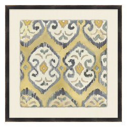 Wendover Art - Neutral Ikat 8 - This striking Giclee on Paper print adds subtle style to any space. A beautifully framed piece of art has a huge impact on a room for relatively low cost! Many designers and home owners select art first and plan decor around it or you can add artwork to your space as a finishing touch. This spectacular print really draws your eye and can create a focal point over a piece of furniture or above a mantel. In a large room or on a large wall, combine multiple works of art to in the same style or color range to create a cohesive and stylish space! This striking image is beautifully framed in matte black.