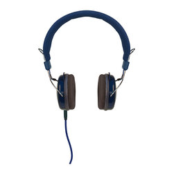 Crosley - Amplitone Headphones Blue - Dimensions:  6.5 x 3 x 7 inches
