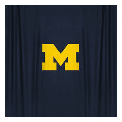 Sports Coverage - NCAA Michigan Wolverines College Bathroom Shower Curtain - Features:
