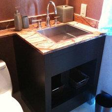 Modern Powder Room by Morantz Custom Cabinetry Inc