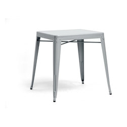 "Baxton Studio - Baxton Studio French Industrial Modern Dining Table in Gray - We didn??????t think a piece of furniture could possess a skill such as talent until we met this table. Cafe table? Industrial dining table?  Minimalist modern bistro table? You decide, because we think this design is skilled enough to be all of the above.  This Chinese-built steel dining table is square-shaped with outward tapering legs and is finished with a powder-coating of glossy, fashionable gray.  To clean, wipe with a damp cloth.  Non-marking black plastic feet help protect sensitive flooring.  This table requires assembly and is also available in white (sold separately). Dimension:31""x31""Dx30.5""HH"