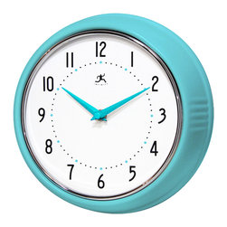 Infinity Instruments, Ltd. - Infinity Instruments Retro Iron Wall Clock, Tqse - Infinity Instruments Retro Wall Clock collection has been a staple in the interior design/wall décor accessories for well over a decade.  It has proven the test of time with a clean retro look that fits most, if not all, home décor layouts. There have been many copy cats but there is only one true  Retro Iron Wall Clock.