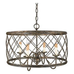 Quoizel Lighting - Quoizel Rdy2821 Country Rustic 4 Light Pendant - Bulb Base: Candelabra (E12). Bulb Count: 4. Bulbs Not Included