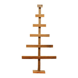 Barn Wood Christmas Tree, Small - This barn wood Christmas trees make for beautiful, rustic holiday decor. It works really well for displaying special Christmas ornaments that might get lost on a traditional tree.