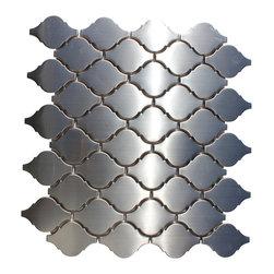 "mosaicandtilesource - ""LANTERN"" Stainless Steel Mosaic Wall Tile Backsplash Arabesque - ITALIAN quality designer mosaics-FREE SHIPPING"