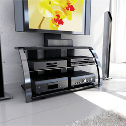 Sonax - Sonax ML-1454 Milan Hybrid Gun Metal TV Stand - Embrace versatility and ingenuity in a distinctive hybrid design from the Milan Collection. The open shelf space for components provides the air flow necessary for the longevity of devices, while the cable management system keeps it organized.