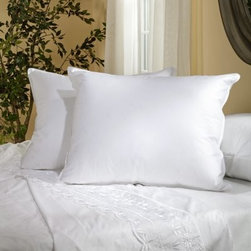 Belle Epoque Chateau Down Pillow - The Belle Epoque Chateau Down Pillow will keep your head at the perfect temperature so you can sleep more deeply. This pillow is covered in soft cotton fabric and stuffed with a blend of white goose down and feathers with a cozy fill power over 650. Choose from three firmness levels - soft medium or firm - to suit your comfort preference and sleeping position. This pillow is conveniently machine-washable and is covered by a three-year limited warranty.Pillow Dimensions:Standard: 26 x 20 inchesQueen: 30 x 20 inchesKing: 36 x 20 inchesEuropean: 26 x 26 inchesAbout CGG Home FashionsWhether you are shopping at Bloomingdale's or relaxing at a premier resort you are sure to find and appreciate CGG Home Fashions products. For over 20 years the company has been offering a broad selection of luxury linens high thread count sheets duvet covers pillows down and synthetic comforters drapes and table linens. CGG's acclaimed Belle Epoque collection is the epitome of elegance with styles ranging from traditional to contemporary. With offices and a warehouse in Yonkers New York and a showroom on New York's Fifth Avenue CGG is at the epicenter of textile design and innovation.