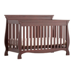 Storkcraft - Venetian Fixed Side Convertible Crib - Experience nursery luxury at its very best with the Venetian 4 in 1 Fixed Side Convertible Crib by Stork Craft. This is a classic crib with graceful, elegant curves and timeless design. The construction of the Venetian is sturdy, the finish is gorgeous, the design is stunning and the value is impressive. With secure, static side rails, this piece provides the ultimate in stability and function. This crib will grow with your child as it converts from a full size crib to a toddler bed, to a daybed, to a full-size bed (full size bed rails NOT included). Complete your nursery look by adding complimentary accessories by Stork Craft. Features: -Converts from a full size crib to a toddler bed, to a daybed, to a full-size bed (Full size bed rails NOT included).-Three mattress-support positions to accommodate babies' growth.-Solid stationary sides offer security and stability to last a lifetime.-Meet current U.S. and Canada safety standards.-JPMA certified.-Solid wood and wood product construction.-Venetian collection.-Collection: Venetian.-Distressed: No.Dimensions: -40.83'' H x 29.92'' W x 59.02'' D, 76.3 lbs.-Overall Product Weight: 76.3 lbs.Warranty: -1 Year limited manufacturer's warranty.