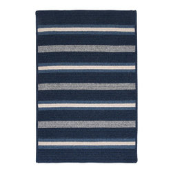 Colonial Mills, Inc. - Salisbury, Navy Rug, Sample Swatch - Striking stripes, bold blue hues and a soft-textured wool blend add up to total style. Toss this area rug anywhere to instantly amp up the cozy quotient.