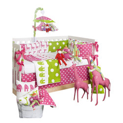 Glenna Jean - Ellie & Stretch Crib Bedding Set - The Ellie & Stretch Crib Bedding Set by Glenna Jean is available as a 3-Piece, 4-piece set, or 5-Piece Set.