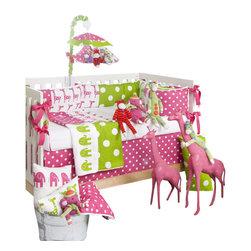 Glenna Jean - Ellie and Stretch Crib Bedding Set 3-Piece Set - The Ellie and Stretch Crib Bedding Set by Glenna Jean is available as a 3-Piece, 4-piece set, or 5-Piece Set.
