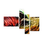 Matthew's Art Gallery - Metal Wall Art Abstract Modern Contemporary Sculpture Huge Wall Decor Color Wave - Name: Color Wave