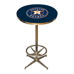 Imperial International - Houston Astros MLB Pub Table - Check out this awesome pub table. It's perfect for your Man Cave, Game Room, Home Bar, or anywhere you want to show love for your favorite team. It has a disco style steel base with leg levelers and foot ring.