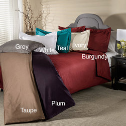 None - 800 Thread Count Wrinkle Resistant 3-piece Duvet Cover Set - Enrich your bed with this soft and durable 3-piece duvet cover set. Made of cotton rich material,the fabric is naturally wrinkle-resistant,and the multiple color options will easily fit any bedroom design.