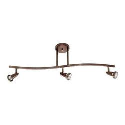 Access Lighting - Access Lighting 52223-BRZ Mirage Modern Track Light - Bronze - Access Lighting 52223-BRZ Mirage Modern Track Light In Bronze