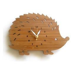 Decoylab Modern Animal Hedgehog Clock - Decoylab Modern Animal Hedgehog Clock