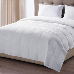 None - Oversized 300 Thread Count Nanotex Stain Resistant Down Alternative Comforter - Those who love down,but who prefer another material will love this luxurious down alternative comforter. Choose this easy-to-clean comforter for its comfort and beauty. With a medium warmth rating,this comforter is perfect any time of year.