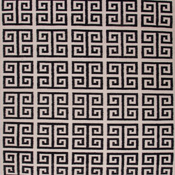 Jaipur Rugs - Flat Weave Geometric Pattern Gray /Black Wool Handmade Rug - UB05, 3.6x5.6 - A range of beautifully designed flat weaves in a stunning color palette. Hand woven from 100% wool, each rug has its own personality and is versatile and easy to use.