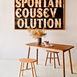 Kitchen - Biscuit Racetrack Dining Table & Biscuit Stools designed by Outofstock & Peter Tunney Art