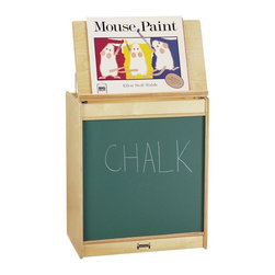 Jonti-Craft - Jonti-Craft Big Book Easel Multicolor - 0543JCMG - Shop for Art Easels from Hayneedle.com! The Jonti-Craft Big Book Easel is a great multi-functional piece for children's rooms playrooms or classroom settings. The cabinet lid can be propped open to create an easel for displaying books artwork charts maps and more. The lower portion of the cabinet features your choice of finish in the front: green chalkboard write-n-wipe magnetic write-n-wipe or flannel. The back of the cabinet features vertical storage shelves for large format books or music albums. A handy storage shelf above makes space for markers chalk erasers or other supplies. This easel cabinet is caster-mounted for easy portablitly and is made of wood with a natural finish.About Jonti-CraftFamily-owned and -operated out of Wabasso Minn. Jonti-Craft is a leading provider of quality furniture for the early learning market. It offers a wide selection of creatively designed products in both wood and laminate materials. Its products are packed with features that make them safe functional and affordable. Jonti-Craft products are built using the strongest construction techniques available to ensure that your furniture purchase will last a lifetime.