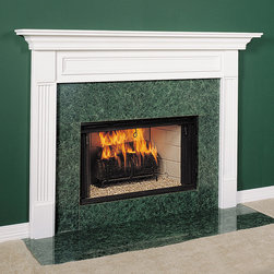 Fairfield Wood Fireplace Mantel - Our Farmington Mantel, shown in fresh white, is a beautiful wood mantel available in both custom and standard sizes + a number of finishes.