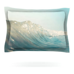 "Kess InHouse - Bree Madden ""The Wave"" Pillow Sham (Cotton, 40"" x 20"") - Pairing your already chic duvet cover with playful pillow shams is the perfect way to tie your bedroom together. There are endless possibilities to feed your artistic palette with these imaginative pillow shams. It will looks so elegant you won't want ruin the masterpiece you have created when you go to bed. Not only are these pillow shams nice to look at they are also made from a high quality cotton blend. They are so soft that they will elevate your sleep up to level that is beyond Cloud 9. We always print our goods with the highest quality printing process in order to maintain the integrity of the art that you are adeptly displaying. This means that you won't have to worry about your art fading or your sham loosing it's freshness."