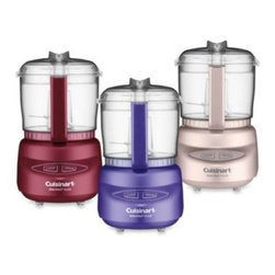 Cuisinart - Cuisinart Mini-Prep Plus 3-Cup Processors - These petite but powerful 3-cup food processors from Cuisinart are the perfect tools for chopping and grinding tasks. Straightforward, one-touch chop or grind button function and compact size make it a welcome addition to any kitchen.