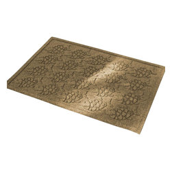 Bungalow Flooring - 24 in. L x 36 in. W Gold Waterguard Tropical Fish Mat - Made to order. Fun fish design traps dirt, resists fading, rot and mildew. Indoor and outdoor use. 24 in. L x 36 in. W x 0.5 in. H