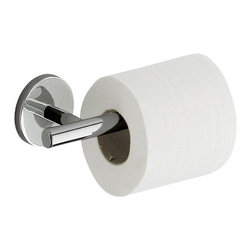 Gedy - Polished Chrome Toilet Roll Holder - Contemporary style polished chrome toilet roll holder/toilet paper holder.