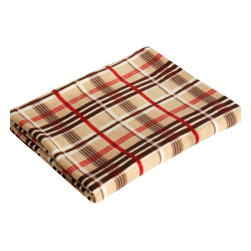 "Blancho Bedding - Trendy Plaids - Khaki/Brown/Red Soft Coral Fleece Throw Blanket  71""-79"" - The Coral Fleece Throw Blanket measures 71 by 79 inches. Whether you are adding the final touch to your bedroom or rec-room, these patterns will add a little whimsy to your decor. Machine wash and tumble dry for easy care. Will look and feel as good as new after multiple washings! This blanket adds a decorative touch to your decor at an exceptional value. Comfort, warmth and stylish designs. This throw blanket will make a fun additional to any room and are beautiful draped over a sofa, chair, bottom of your bed and handy to grab and snuggle up in when there is a chill in the air. They are the perfect gift for any occasion!"