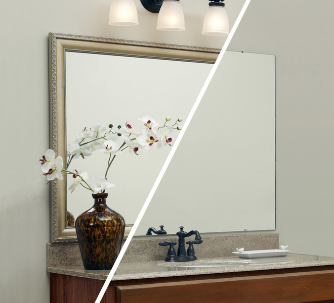 bathroom mirrors by MirrorMate