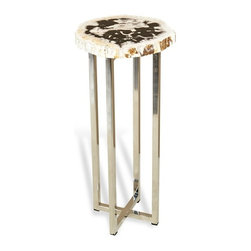 Interlude - Argo Round Drink Table - Natures beauty meets man made luxe in this drink table.