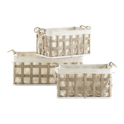 The Anywhere Baskets, Set of 3 - Baskets with removable liners are nice, as you can wash them to keep them fresh.