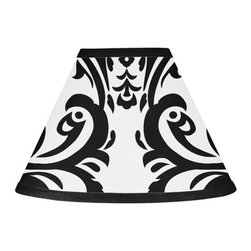 Sweet Jojo Designs - Isabella Black and White Lamp Shade by Sweet Jojo Designs - The Isabella Black and White Lamp Shade by Sweet Jojo Designs, along with the  bedding accessories.